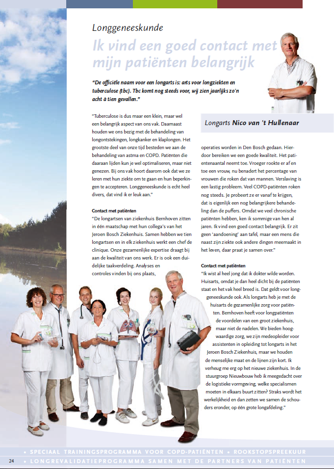 Bernhoven - Specialistenmagazine nov 2012 - longgeneeskunde
