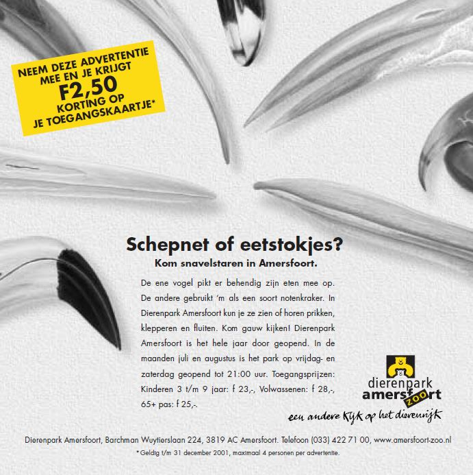 Dierenpark Amersfoort - Advertentie Snavelstaren