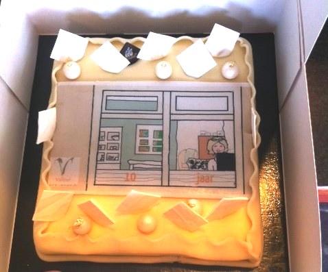 © Valleur Tekst & Communicatie 10 jaar - taart